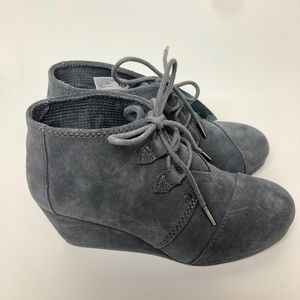 TOM'S Forged Iron Grey Suede Women's Kala Booties